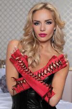 Fingerless Gloves Elbow Length Lace-up  Seven Til Midnight - Red