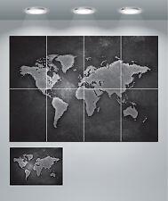 MAPPA del mondo GIGANTE POSTER Wall Art Print