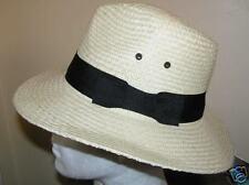 Da Uomo Best Cappello di paglia con banda nera 58cm