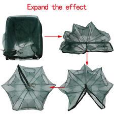 6 / 12 Holes Automatic Fishing Net Shrimp Cage Foldable Crab Fish Trap Cast DY