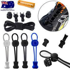 Shoe Laces Unsiex Adults Kids Elastic No Tie Locking Shoelaces Sports Sneaker AU