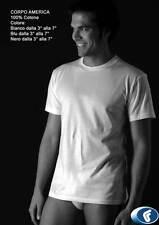 3 t-shirt mezza manica puro cotone pettinato col. bianco marca fragi made italy