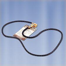 Halskette Leder Flecht & Silber Kette Schnur 925 Silber VERGOLDET 999° GOLD