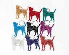 Glitter acrylic Border Terrier keyring/bag charm - 9 colour choices.