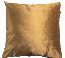 Mo84a Lt.Brown Gold Shimmer Velvet Style Cushion Cover/Pillow Case Custom Size