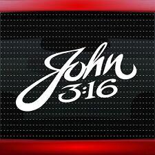 John 3:16 Christian Car Decal Truck Window Vinyl Sticker Jesus (20 COLORS!)