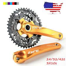 24/32/42t 104/64bcd Triple Speed MTB Bike Crankset 170mm Crank Arm set Chainring