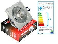 Aluminium GU10 Einbauspot von Kamilux Model L1 Kanto & 7W Glas LED-Strahler 230V