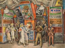PAUL CADMUS TWENTY CENTS MOVIE FIGURE ART Giclée Print Fine Canvas