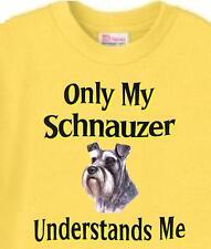 Dog T-Shirt - Only My Schnauzer Understands Me - Adopt Animal Pet Men # 58