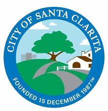 Seal of Santa Clarita California Sticker / Decal R704