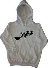 Santas Sleigh Kids Hoodie Sweatshirt