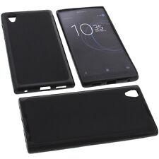 Tasche für Sony Xperia L1 Handytasche Schutz Hülle TPU Gummi Case Schwarz