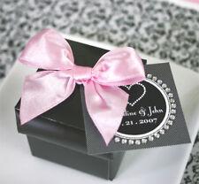96 Black Cube Wedding Favors Favor Boxes Lot
