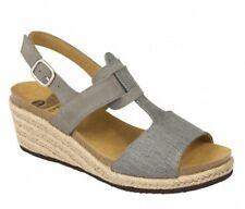 SCHOLL DEBORA BioPrint sandali ciabatte pantofole zoccoli donna zeppa camoscio