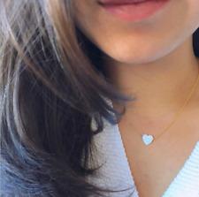 Women White Opal Love Heart Adjustable Fashion Jewelry Pendant Necklace