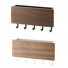 H3E# Wood Decorative Wall Hanging Shelf Key Rack Sundries Storage Box Organizer