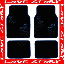 BLUE HEART LOVE STORY CARPET FLOOR MATS (PREMIUM) AAA+