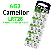 Camelion Knopfzellen AG2 LR726 G2 LR59 196 SR726W Alkaline 0% HG Uhren Batterien