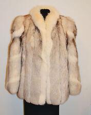 Genuine ARCTIC / NORWEGIAN Fox Fur Coat Jacket, sz 10