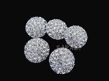 Crystal Rhinestone Buckle Button Bouquet Wedding Decor Invitation Pin KA1645