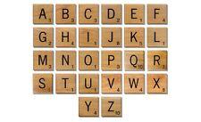 Hölzerne Scrabble Individuelle Fliesen Buchstaben Zahlen Für Alphabet Spiel Holz