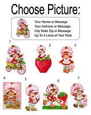 30 Strawberry Shortcake (Classic) Personalized Address Labels
