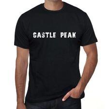 castle peak Uomo Maglietta Nero Regalo Di Compleanno 00546