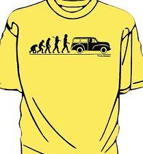 Evolution of Man, Morris Minor Traveller t-shirt