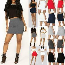 Ladies Womens High Waisted Stretch Pencil Elasticated Bandage Bodycon Mini Skirt
