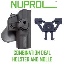 Nuprol Retention Holster & Molle Adaptor Combo Glock SIG Beretta 1911 Airsoft