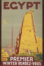 TW95 Vintage Egypt Winter Rendezvous Egyptian Travel Poster Re-Print A4