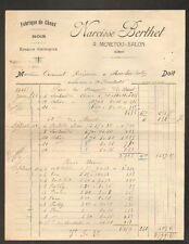 """MENETOU-SALON (18) CHAUX , BOIS & ENGRAIS CHIMIQUES """"Narcisse BERTHET"""" en 1926"""