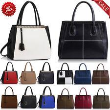 New Womens Designer Handbag Ladies Fashion Shoulder  Faux Leather Tote Bags