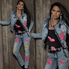 BY ALINA 2-Teiler Jeans Damen Hose Jeansjacke Röhrenjeans XXS - S  #B332