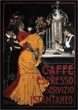 Vintage Advertisment Poster Caffe Espresso Servizio WIA065 A4 A3 A2 A1