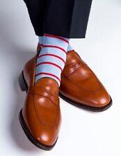 Handmade Men Tan Brown Leather Shoes Moccasins Slip Ons, Men Formal Shoes