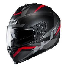 hjc c 70 troky grafica opaco nero rosso grigio casco integrale matt