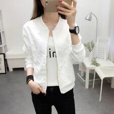 Women Casual Short Jackets Slim Long Sleeve Streetwear Solid Cardigan JackstSFSP