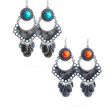 Orecchini stile etnico con perle colorate Chandelier mod. Raya in 2 colori
