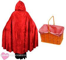 Caperucita Roja Con Capucha Capa Y Cesta De Libros Escolares semana Fancy Dress Costume