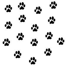 Tierpfoten Hundepfoten Aufkleber 60 Stück
