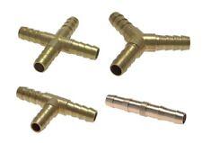 Schlauchverbinder Messing gerade T-Stück Y-Stück Kreuz-Stück wählbar 5mm - 13mm