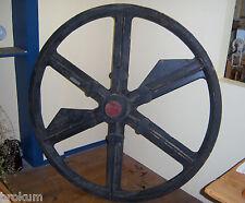 Huge 5-foot Wood Foundry Pulley Wheel Pattern Mold ~ IB, Bay City, Michigan