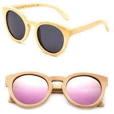 Genuine Handmade Bamboo Sunglasses Anti Glare Polarized Wooden w/ Spring Hinges