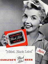 85219 ADVERT BEER DRINK BLACK LABEL MABEL Decor WALL PRINT POSTER CA