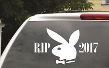 """Hugh Hefner Playboy Car Decal - RIP Window Sticker - 8""""x3"""""""