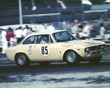 Vintage Color 8X10 Auto Racing Photo 1967 Daytona Alfa Romeo GTA J. Baker