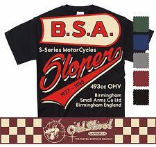VINTAGE BSA SLOPER T SHIRT CLASSIC MOTORCYCLE BIKER RETRO BOBBER CHOPPER CLASSIC