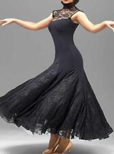 Black  Foxtrot Ballroom Dance Modern Waltz Gown Ball Competition Evening Dress